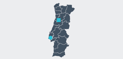 Map of Portugal - Aktrion