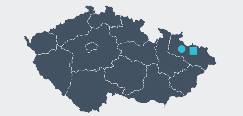 Map of Czech - Aktrion