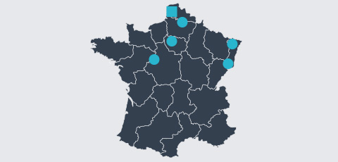 Map of France - Aktrion