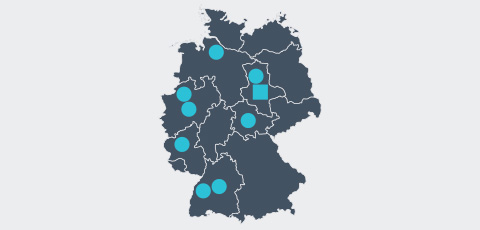 Map of Germany - Aktrion